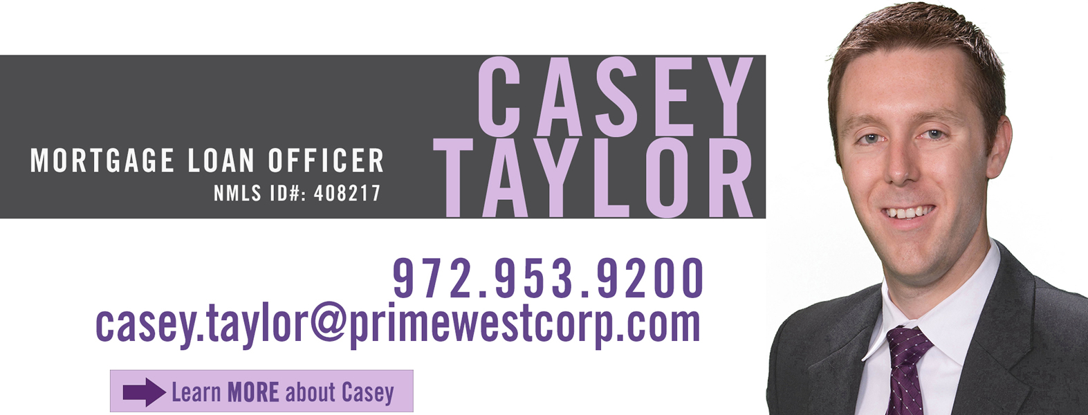 Casey Taylor, Mortgage Loan Officer, PrimeWest Mortgage