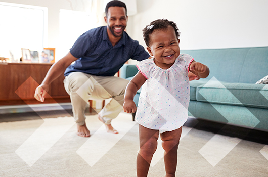 First Step Home Loan - Child taking its first steps