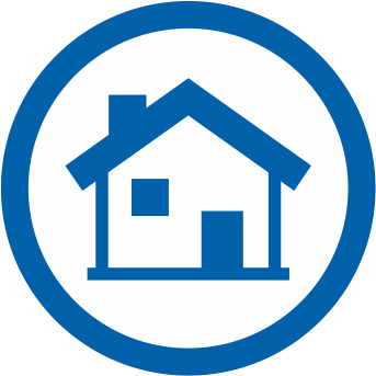 Icon depicting house for home refinance application