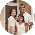 hispanic family of three - cash out