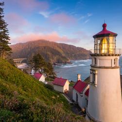 Lighthouse on the coast in Oregon
