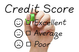 Graphic representing excellent credit score - credit scores