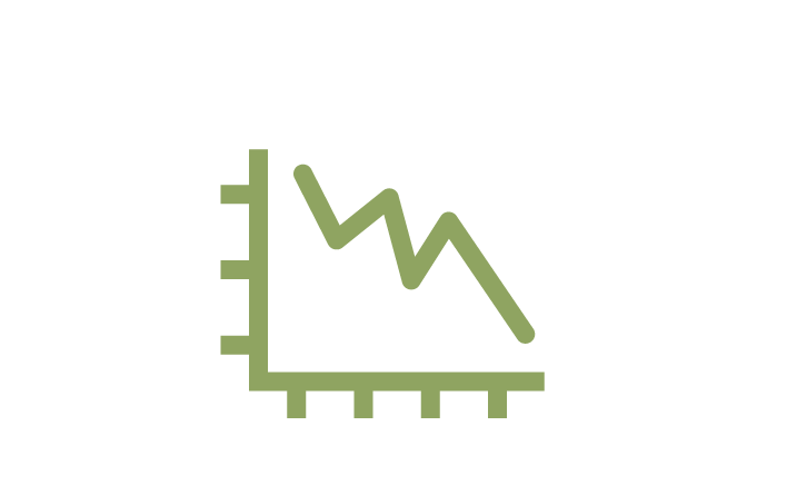 An icon of a line graph