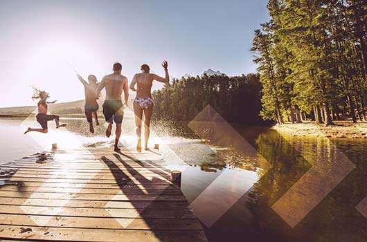Recreational Property Loan - Family enjoying their lake property.