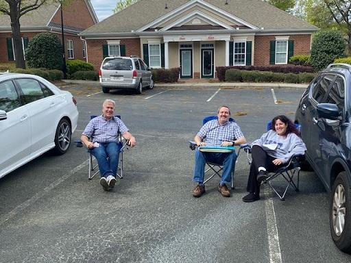 clients wait outside