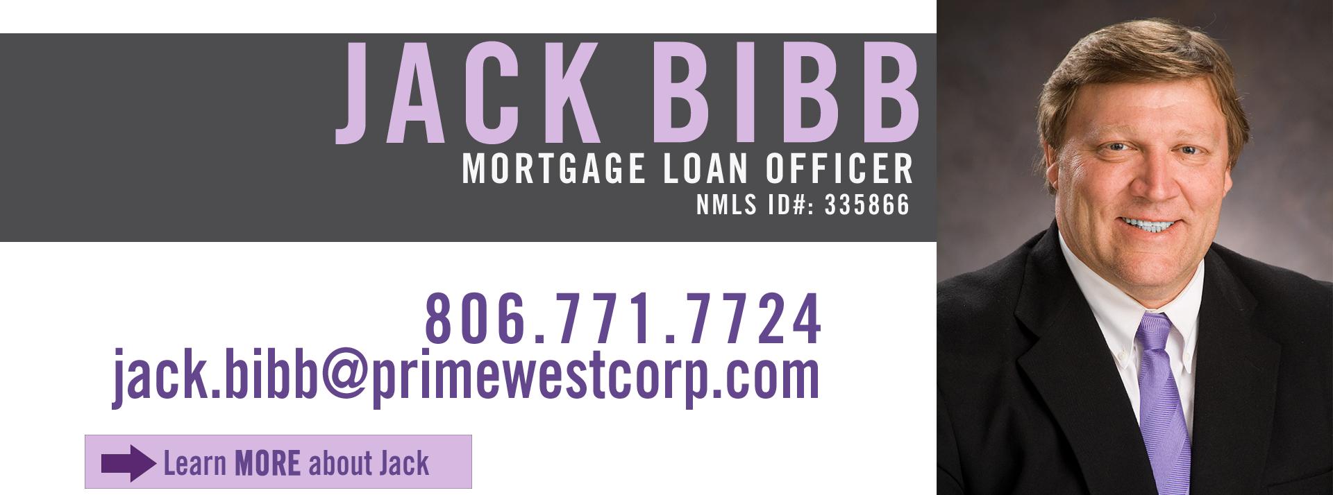 Jack Bibb, Mortgage Loan Officer, PrimeWest Mortgage
