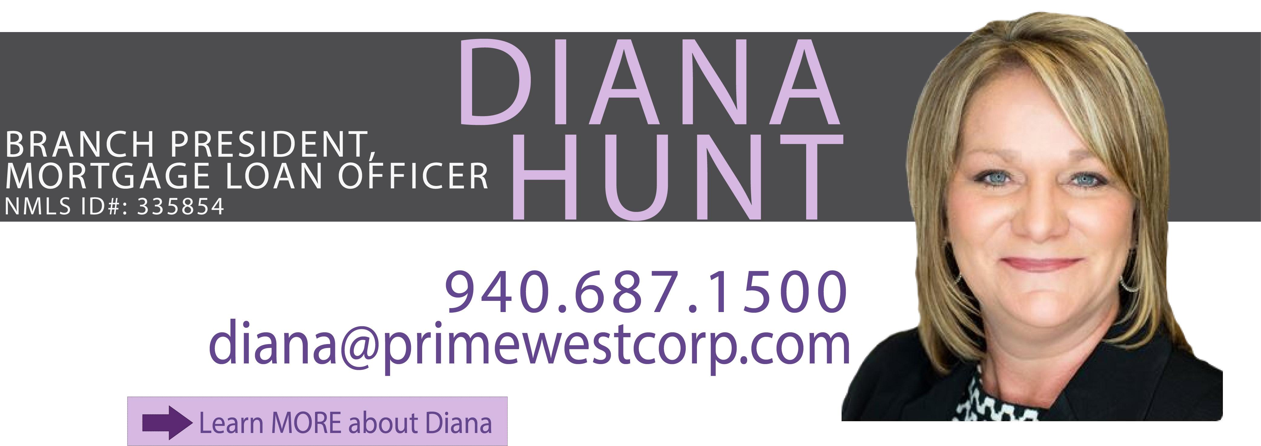 Diana Hunt, VP, Mortgage Loan Officer in Wichita Falls, Texas