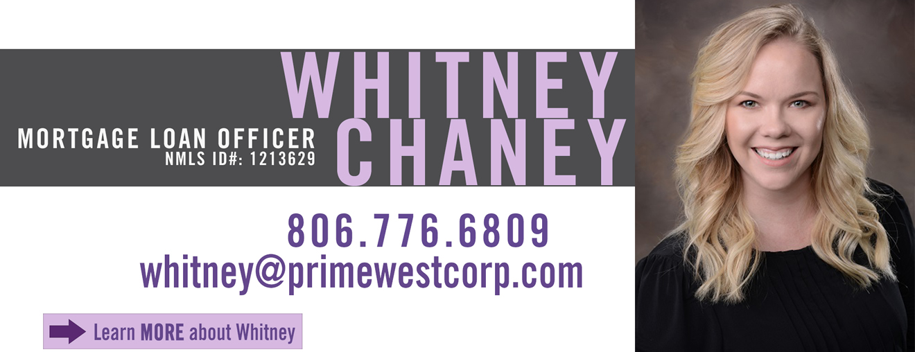 Whitney Chaney, Mortgage Loan Officer, PrimeWest Mortgage