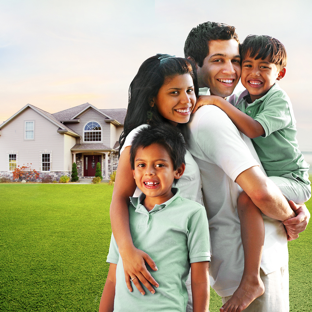 Hispanic family with two little boys - Home purchase basics