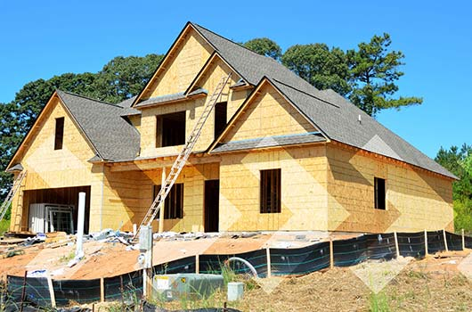 Construction Loan - Dream home under construction.