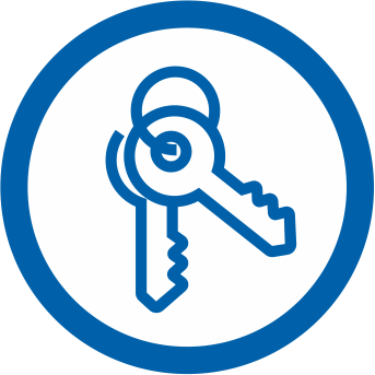 Icon depicting keys for Home Purchase application