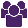 Cluster of people icon