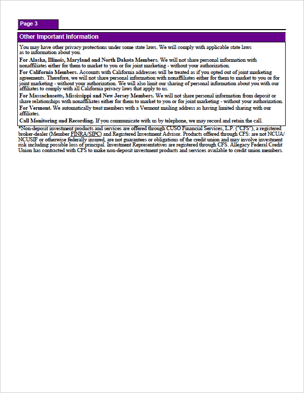 Privacy Policy - Page 3